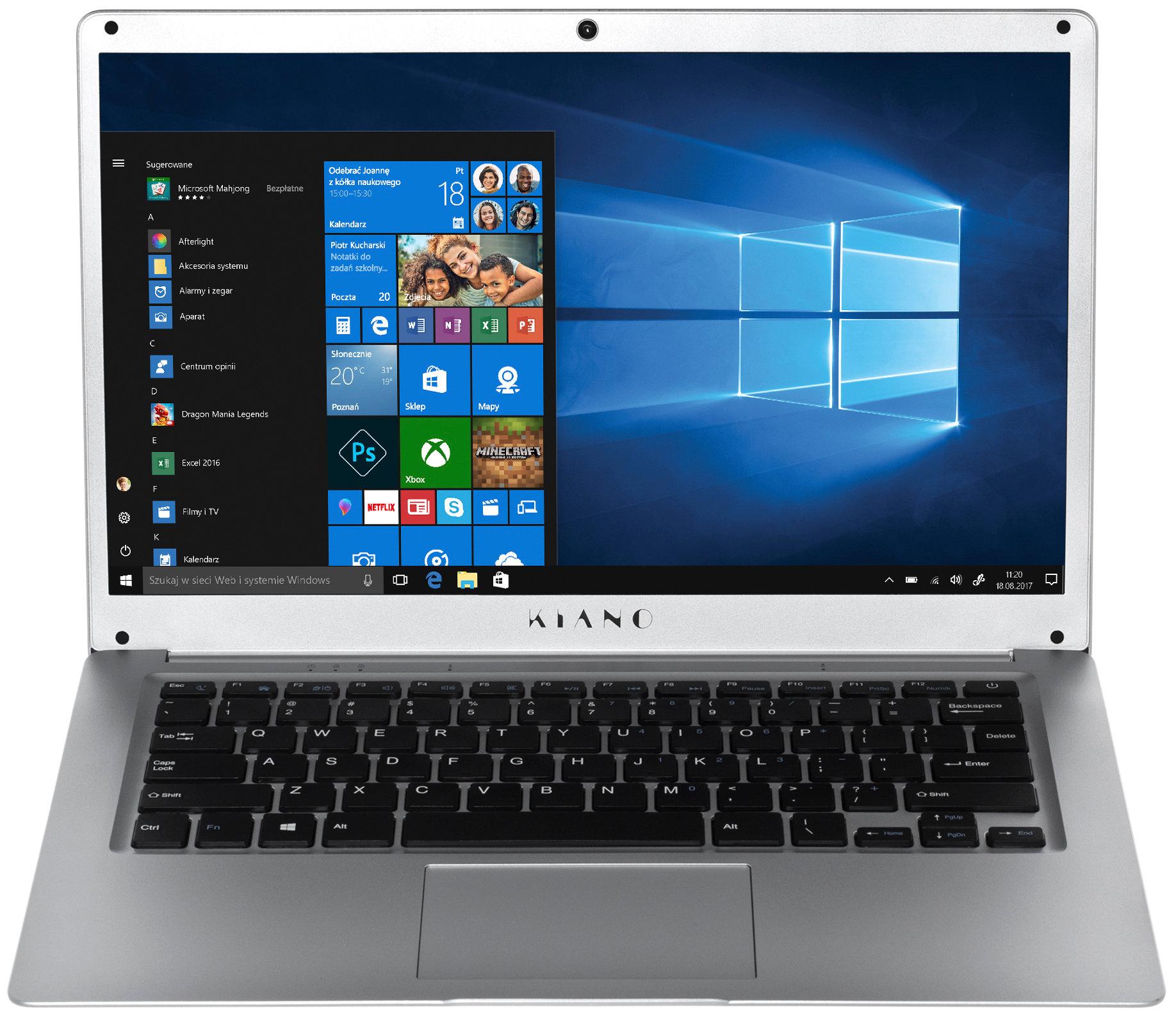 86e98200b23a7 Laptop KIANO Laptop KIANO SlimNote 14.2 Srebrny – sklep internetowy Avans.pl