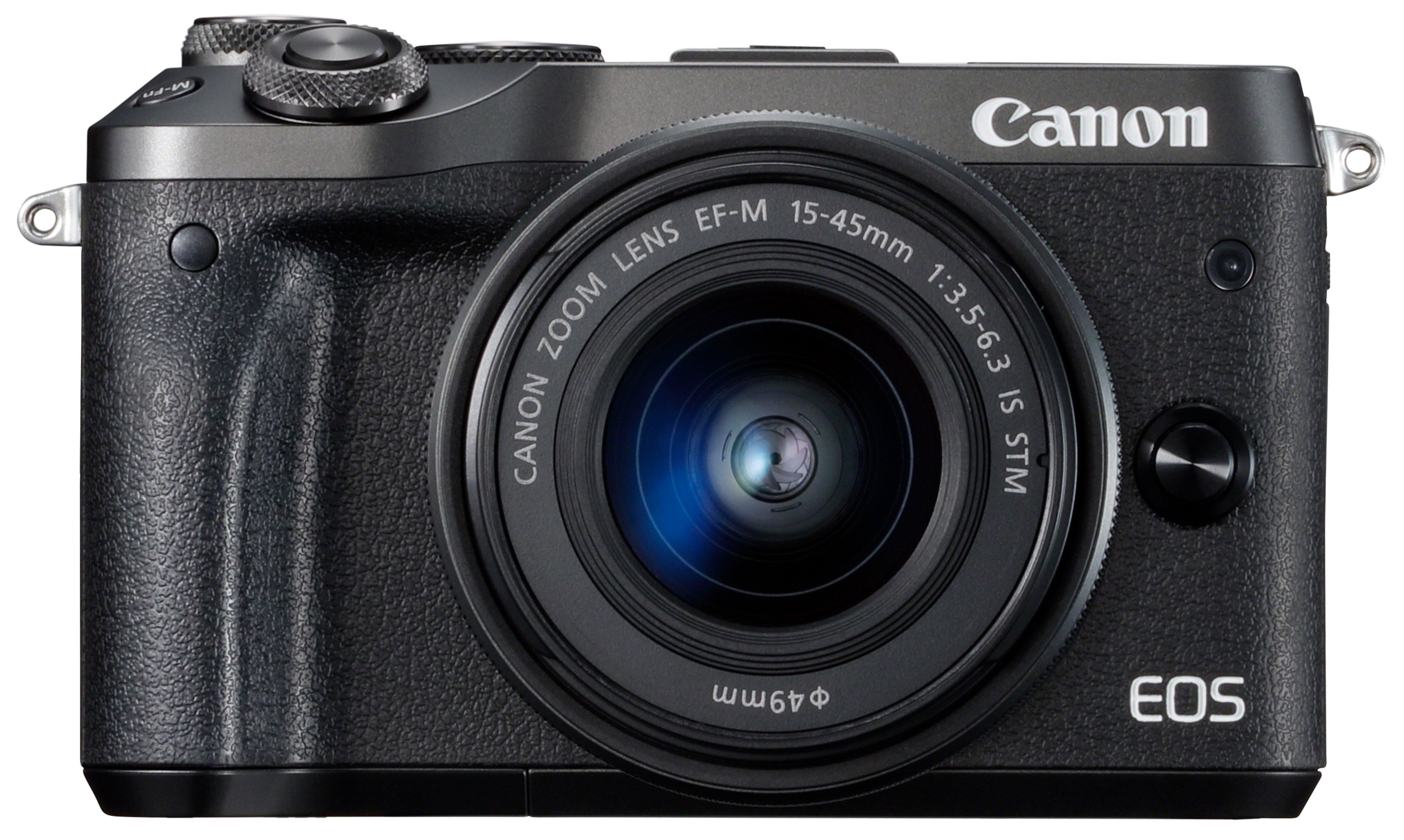 Obraz przedstawiający Aparat CANON EOS M6 Czarny + Obiektyw 15-45 mm