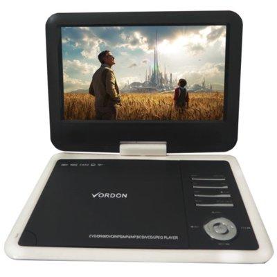 Przenośny odtwarzacz DVD VORDON Portable 10.2c Biało-czarny