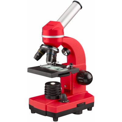 MikroskopBRESSER Junior Biolux SEL 40-1600x Czerwony