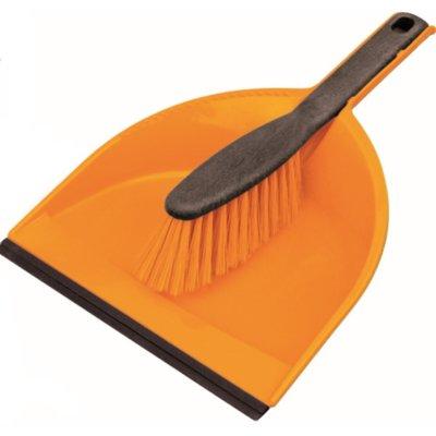 Zmiotka z szufelką YORK Clip Azur Pomarańczowy