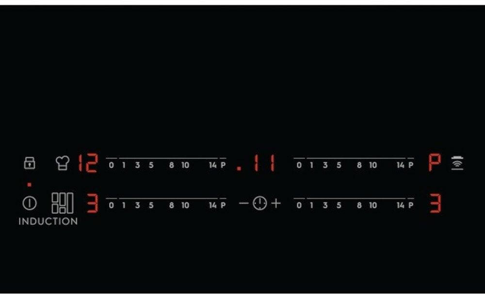 Płyta indukcyjna ELECTROLUX EIV63440BS SLIM-FIT panel sterowania maksymalnie ułatwia dostęp do naczyniach i sterowania urządzeniem