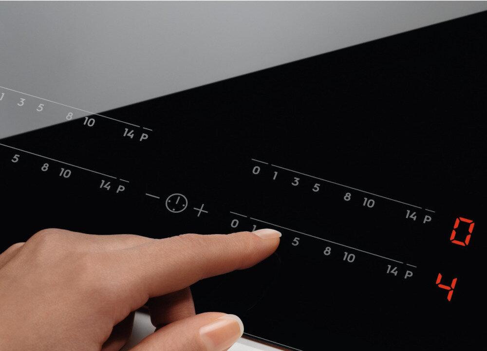 Płyta indukcyjna ELECTROLUX EIV63440BS SLIM-FIT funkcja DirectTouch sterowanie proste i szybkie Eco Timer 3-stopniowy wskaźnik ciepła resztkowego timer