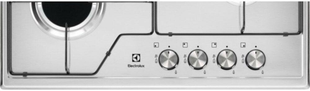 Płyta gazowa ELECTROLUX KGS6424BX pokrętła prezycyzyjne łatwo wyregulować wielkość płomienia obrócić i nacisnąć pokrętło