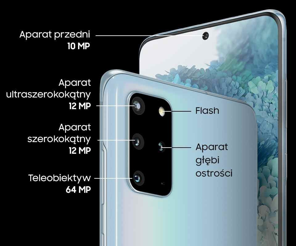 Smartfon SAMSUNG Galaxy S20+ SM G985 Blue – sklep internetowy Avans.pl