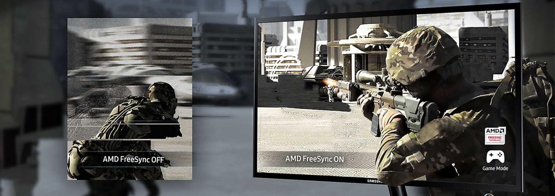 Samsung Новый качественный геймплей с Amd Freesync